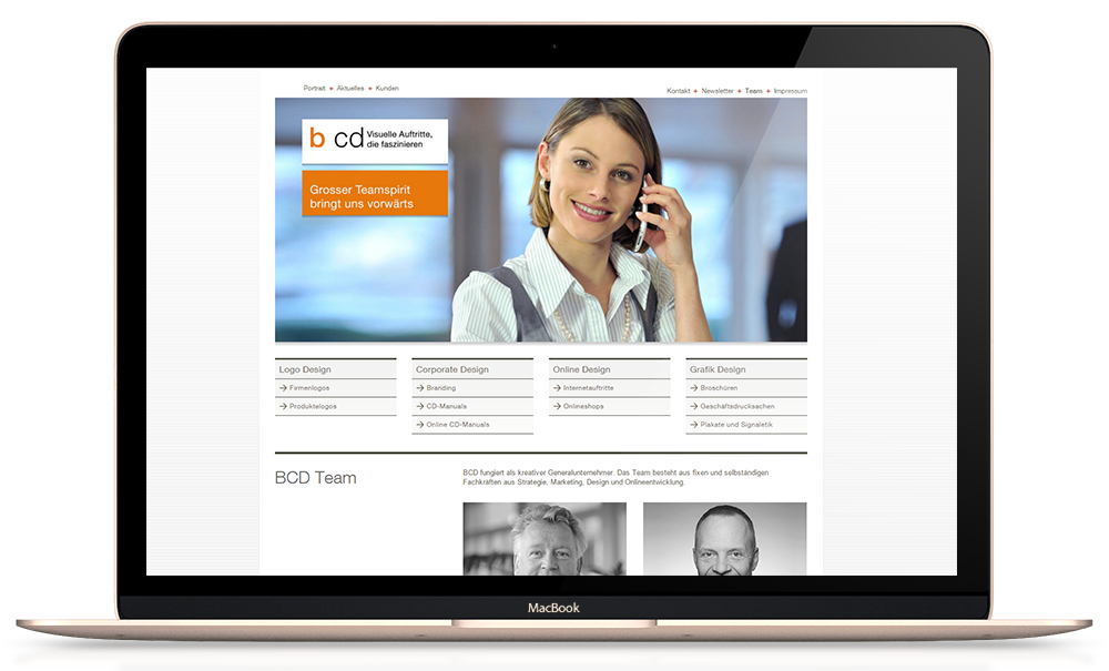 Responsive Website umgesetzt in Weblication CORE CMS