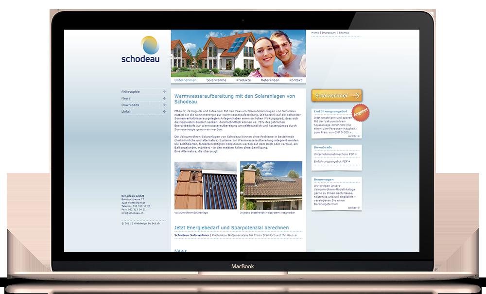 CMS Website für Schodeau GmbH
