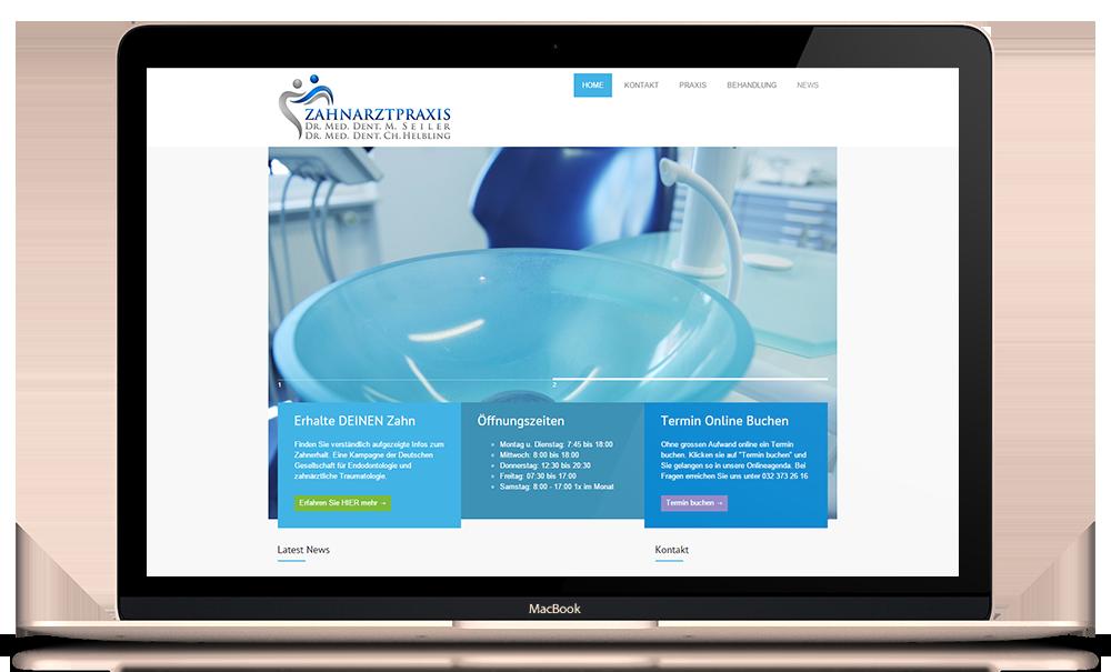 Responsive Website für Zahnarztpraxis Helbling