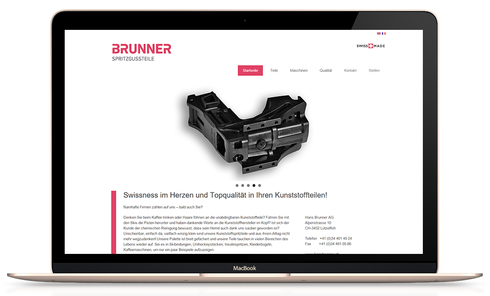 Responsive Wordpress Website Brunner Spritzgussteile
