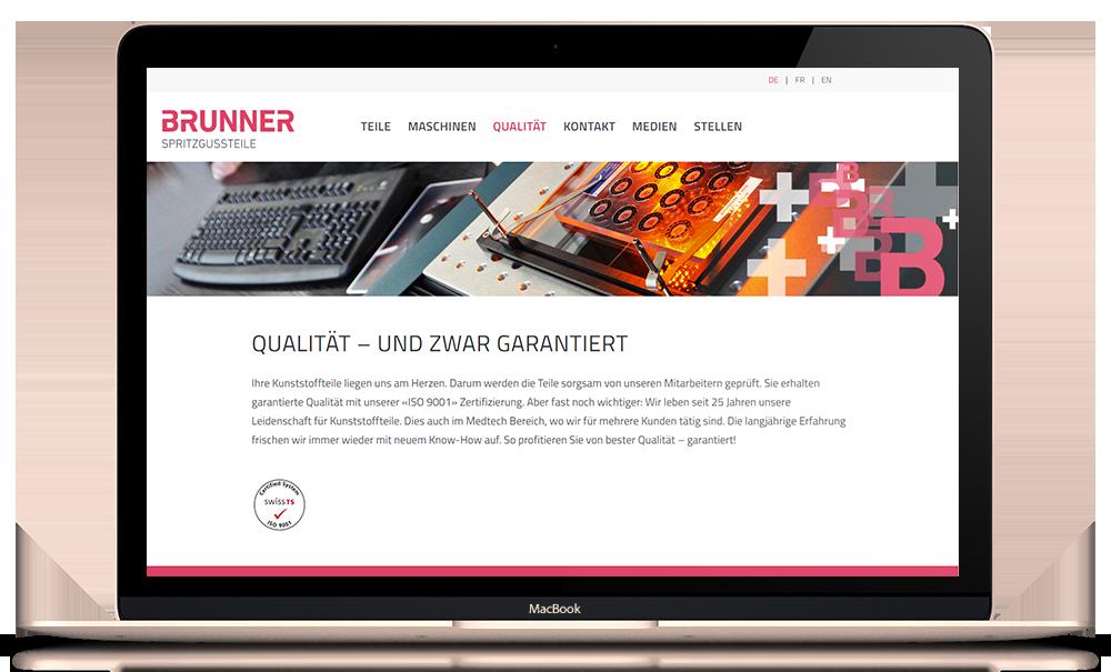 Responsive Webseite hansbrunner.ch