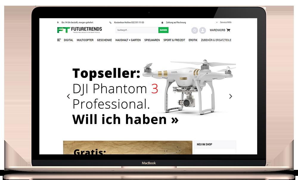 Responsiver Onlineshop mit Shopware