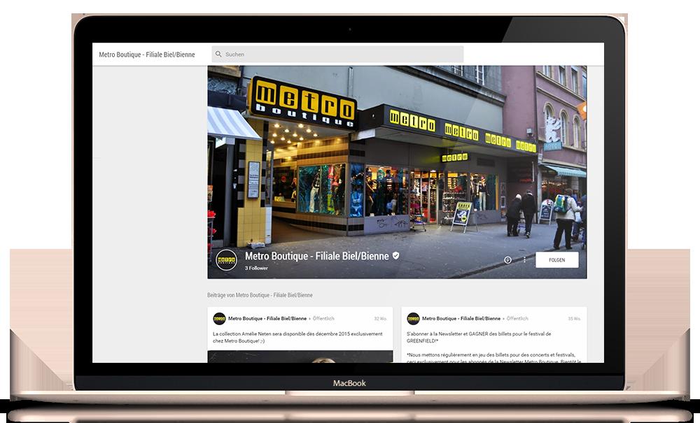 Social Media: 26 Google+ Profile für Metro Boutique