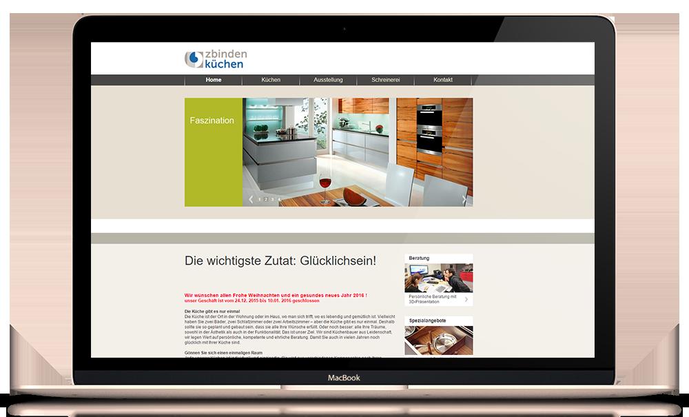 Website für Zbinden Küchen