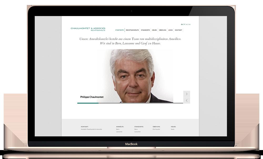 Mehrsprachige Webseite: advonetbe.ch